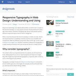 Responsive Typography in Web Design: Understanding and Using