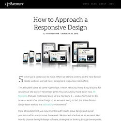 How to Approach a Responsive Design