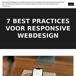 7 best practices voor responsive webdesign