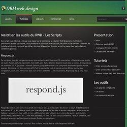 Outils Responsive Webdesign - Les Scripts