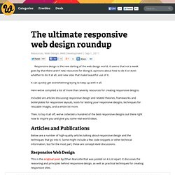The ultimate responsive web design roundup