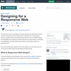 Designing for a Responsive Web