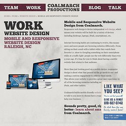 Mobile and Responsive Website Design Raleigh, NC | Coalmarch
