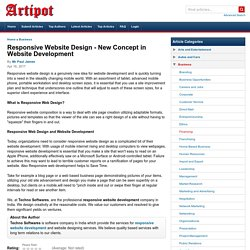 Responsive Website Design - New Concept in Website Development