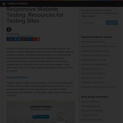 Responsive Website Testing: Resources for Testing Sites
