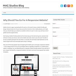 Why Should You Go For A Responsive Website?