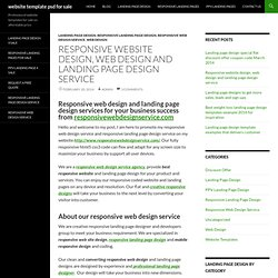 Responsive website design, web design and landing page design service