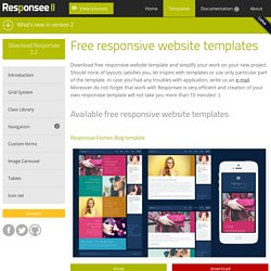 8 Free responsive website templates