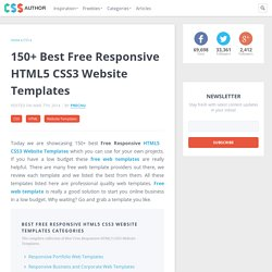 150+ Best Free Responsive HTML5 CSS3 Website Templates