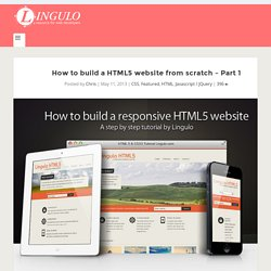 How to build a responsive HTML5 website - a step by step tutorial