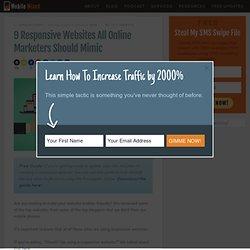 9 Responsive Websites All Online Marketers Should Mimic