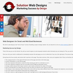 Web Design Agency for Responsive Websites - Solution Web Designs