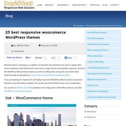 25 best responsive woocomerce WordPress themes