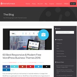 60 Best Responsive Free WordPress Business Themes 2016 - Payant ??