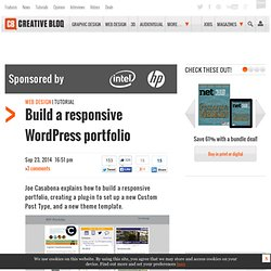 Build a responsive WordPress portfolio
