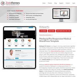 Health & Medical Responsive WordPress Template For Medical Website