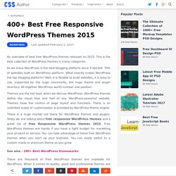 300+ Best Free Responsive WordPress Themes 2015