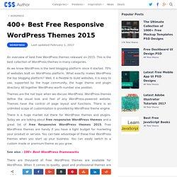 300+ Best Free Responsive WordPress Themes 2015