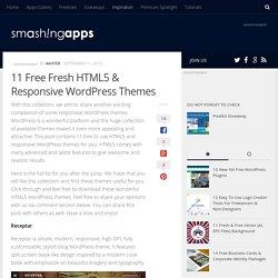 11 Free Fresh HTML5 & Responsive WordPress Themes