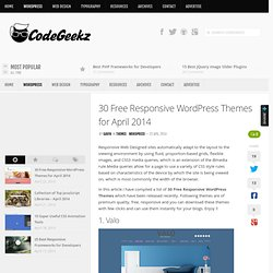 30 Free Responsive WordPress Themes for April 2014
