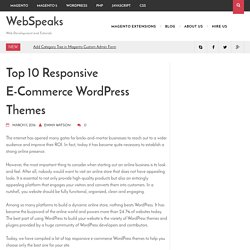 Top 10 Responsive E-Commerce Wordpress Themes - WebSpeaks