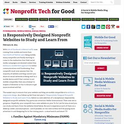 11 Responsively Designed Nonprofit Websites to Study and Learn From
