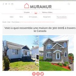 Voici à quoi ressemble une maison de 300 000$ à travers le Canada