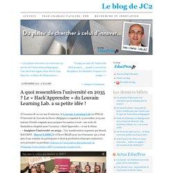 A quoi ressemblera l'université en 2035 ? Le «Hack'Apprendre» du Louvain Learning Lab. a sa petite idée !