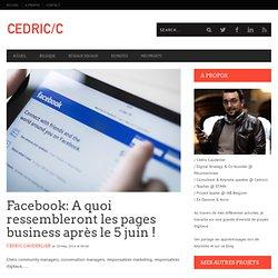 Facebook: A quoi ressembleront les pages business après le 5 juin