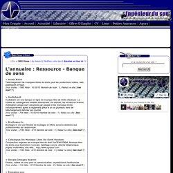 Ressource - Banque de sons dans l'annuaire de l'audiovisuel et de spectacle vivant