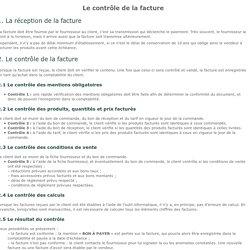 Fiche ressource 16 - Le contrôle de la facture