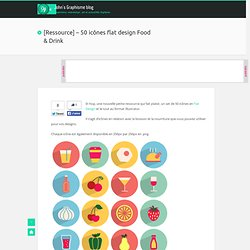 [Ressource] - 50 icônes flat design Food & Drink