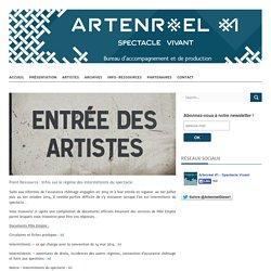 Point Ressource : Infos sur le régime des intermittents du spectacle - ARTENRÉEL #1