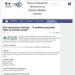 """Une ressource internet... """"L'extrême pauvreté dans le monde recule"""""""