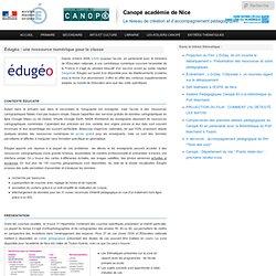 Édugéo : une ressource numérique pour la classe
