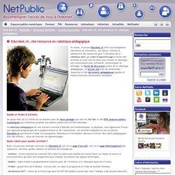 Edurobot.ch, site ressource en robotique pédagogique