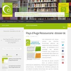 Pays d'Auge Ressourcerie : dossier de présentation - Pays d'Auge Ressourcerie