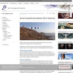 Københavns Universitet: begrebet grænser set i et religiøst, filosofisk, samfundsfagligt og historisk perspektiv.