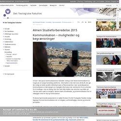 AT 2015 - teologisk ressourcerum – Københavns Universitet