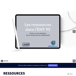 Les ressources de l'ENT 95