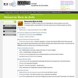 Ressources libres de droits - Canopé Académie de Grenoble