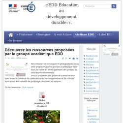 EDD Éducation au développement durable::. - Les ressources du groupe académique