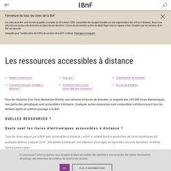 Les ressources accessibles à distance