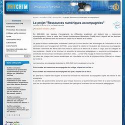 """Le projet """"Ressources numériques accompagnées"""""""