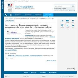 Les ressources d'accompagnement des nouveaux programmes de géographie du cycle 4 mises en ligne-Histoire-géographie-Éduscol