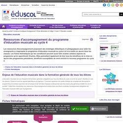 Éducation musicale - Ressources d'accompagnement éducation musicale C4