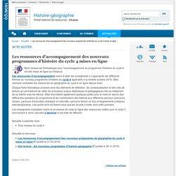 Les ressources d'accompagnement des nouveaux programmes d'histoire du cycle 4 mises en ligne-Histoire-géographie-Éduscol