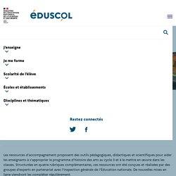 Ressources d'accompagnement du programme d'histoire des arts au cycle 3