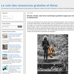 Ebooks, ibooks, des livres numériques gratuits & apps pour enfants et adolescents
