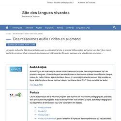 Des ressources audio / vidéo en allemand